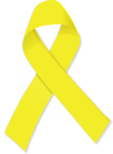 Yellow Bladder Cancer ribbon